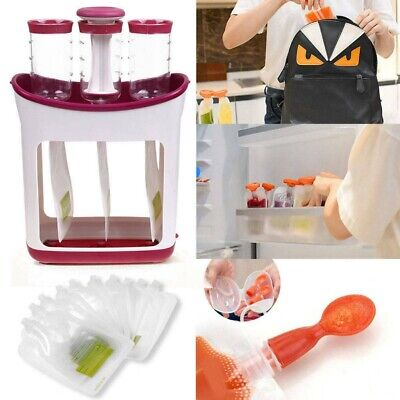 Pouches Homemade Squeeze Infant Baby Food Station Feeding Maker Fresh UK Storage