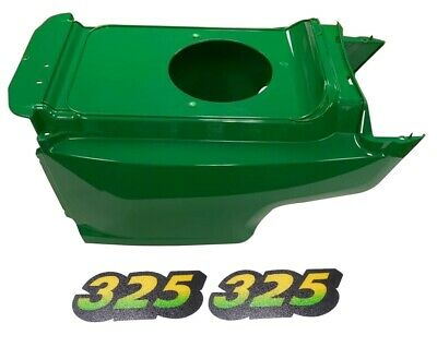 Lower Hood & 2Pc Decals Replaces AM132688 M135982 Fits John Deere 325 Up S/N