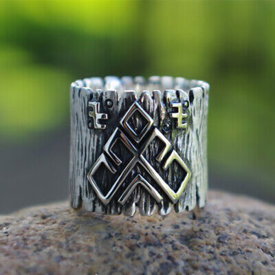 Ring For Men Viking Celtic Pattern Knot Stainless Steel Jewelry Punk Rock Gothic