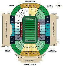 2 Excellent tickets Notre Dame Fighting Irish vs. Virginia Tech Hokies 11/02