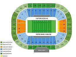 4 Tickets Notre Dame vs.Boston College Football LOWER Corner Seats on the Aisle