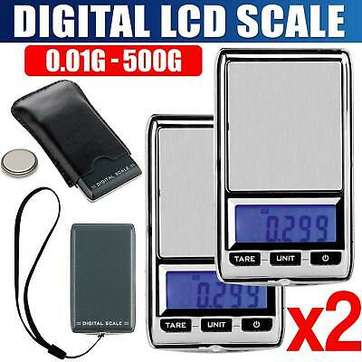 NEW DIGITAL POCKET SCALES  500g 0.01 JEWELLERY ELECTRONIC milligram micro mg @OZ