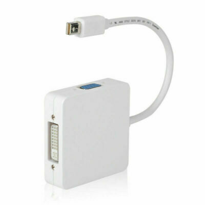 Cablecc Thunderbolt Mini DP to VGA HDMI DVI Adapter 3 in1 for Apple MacBook