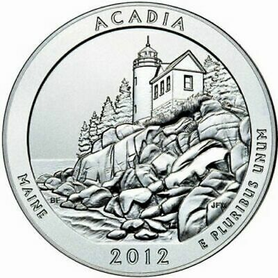 2012 5 oz ATB Acadia National Park Silver (Maine)  -  WITH NEW Air-Tite Holder