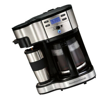 Hamilton Beach 2 Way Brewer 12 Cup Coffee Maker Stainless Steel Programmable NEW