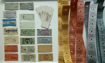 Rare vintage 50s 60s 70s bus ticket selection - huge collector or craft bundle