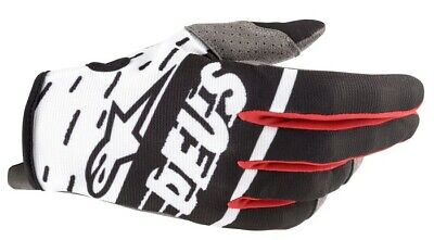 New 2020 Adult Alpinestars RADAR Gloves DEUS EX MACHINA Black White Red MX