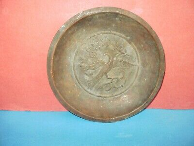Handmade copper antique Greek Plate/Tray engraved from 19th century - RARE!