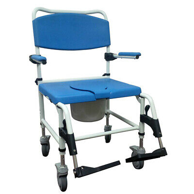 Drive Medical NRS185008 Aluminum Bariatric Rehab Shower Commode Chair