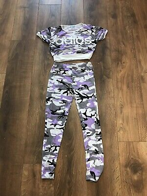 Girls Liquid Sports Leggings And Top Set 'Adios'- Age 13