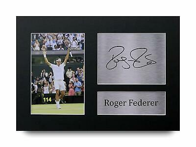 Roger Federer Signed Pre Printed Autograph Photo Gift For a Tennis Fan
