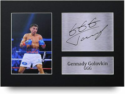Gennady Golovkin Signed Pre Printed Autograph Photo Gift For a Boxing Fan