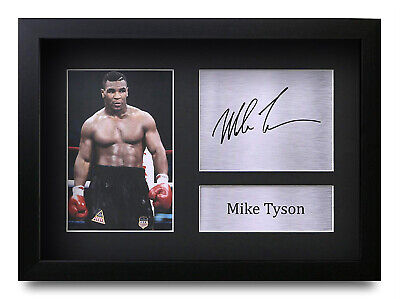 Mike Tyson Signed Pre Printed Autograph Photo Gift For a Boxing Fan