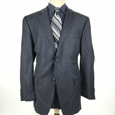 Alfani Men's Size 44R Blue Wool Cashmere Blend Blazer Sport Coat Jacket