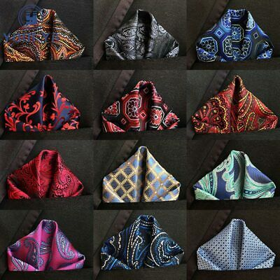 Luxury Men's Silk Handkerchief Floral Jacquard Pocket Square Hanky 25 * 25cm