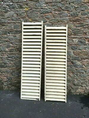 Pair almost matching Vintage Antique Old Reclaimed French Wooden Window Shutters