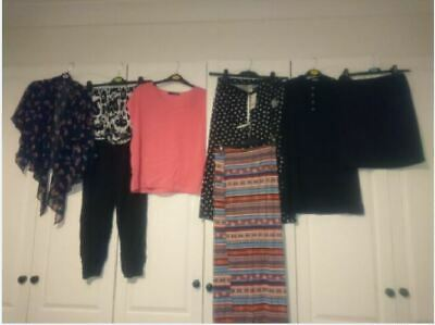 ladies bundle of clothes, tops, bottoms, skirts size 10, 8 in total