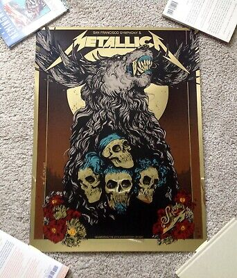 Metallica S&M2 Night Two Foil AP Poster Chase Center San Francisco Symphony 9/8