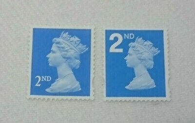 50 x 2nd Class Blue unfranked Off paper No Gum GB Stamps