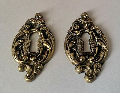 VINTAGE KEYHOLE / Cover PLATE - Escutcheon FRENCH /  Rococo STYLE