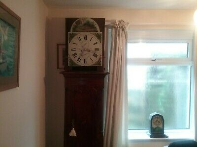 Antique longcase grandfather clock With service history!!!!!