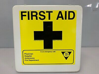 First Aid Kit Empty Metal Storage Box Home Health Wall Mount USA Made