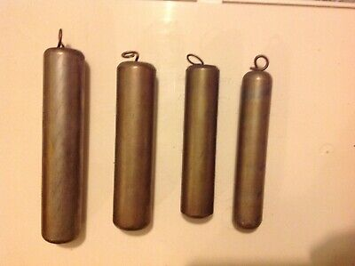 lot of 4 OLD BRASS  CLOCK WEIGHTS