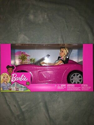Barbie Glam Convertible Car & Doll Playset From Mattel BRAND NEW