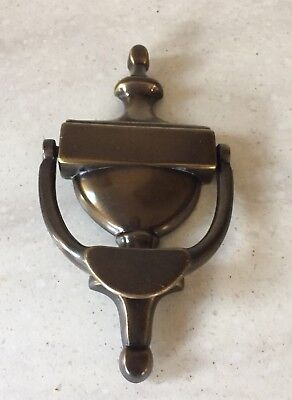Vtg Colonial bronze finish  Solid Brass Door Knocker