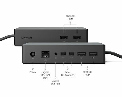 Microsoft Surface Pro 3, 4, 5, 1796 Dock Docking Station&AC Adapter Charger 67A