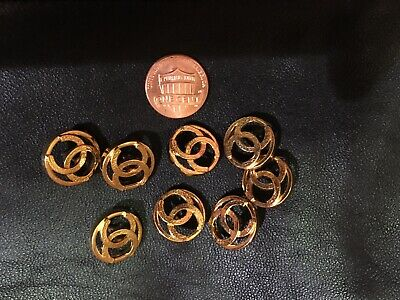 """❤💖💗CHANEL  Buttons lot of 8 gold Tone Logo 3/4"""""""