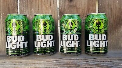 Bud Light Area 51 Green Alien Can BRAND Very Limited Collectors Item EMPTY CANS
