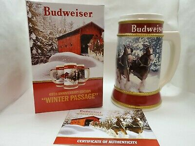 "2019 Budwesier Holiday Stein 40th Anniversary ""Winter Passage"""