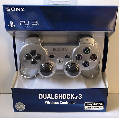 NEW Original Replacement Sony PS3 Wireless Dualshock 3 Controller - SILVER