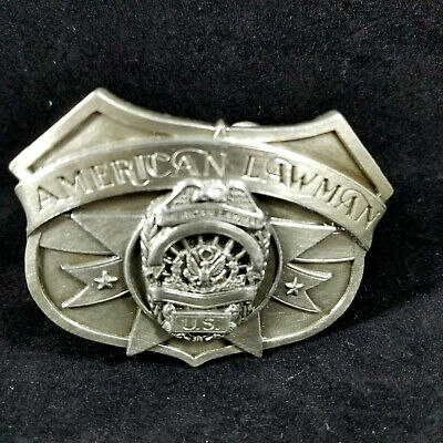 """Vintage 1992 Siskiyou American Lawman Belt Buckle /""""To Serve and Protect/""""  USA"""
