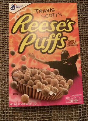 Limited Edition General Mills Travis Scott Reeses Puffs Cereal MINT BOX SEALED