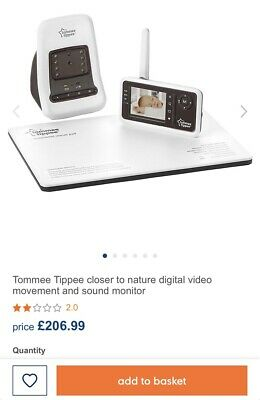 Tommee Tippee Closer to Nature digital Baby monitor & movement sensor pad