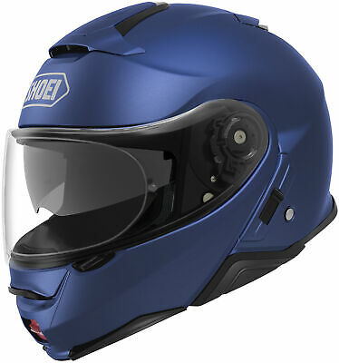 New Matte Blue Metallic Shoei Neotec II Solid Color Helmets All Sizes
