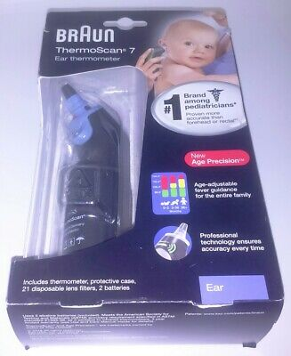 Braun Baby & Adult Ear Thermometer ThermoScan 7 IRT6520 - Black