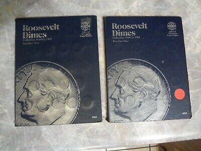 Roosevelt Dime Sets (x2) 1946 to 1996 in Whitman Coin Folders