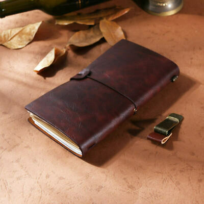 Vintage Retro Classic Leather Bound Blank Pages Journal Diary Notebook