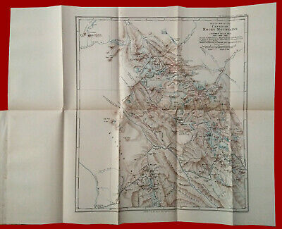 #39317 England 1899.Vintage map of Rocky Mountains [Canada].Royal Geogr. Society