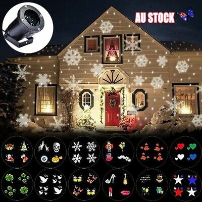12 Pattern LED Laser Light Projector Christmas Outdoor Decor Garden Lamp AU