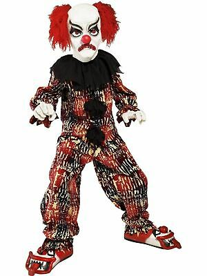 Scary Clown Deluxe Children's Halloween Costume Fancy Dress Outfit