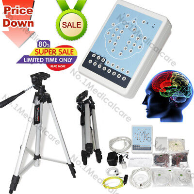 KT88 16 Channel EEG Machine Digital Brain Mapping System, PC Software, tripods