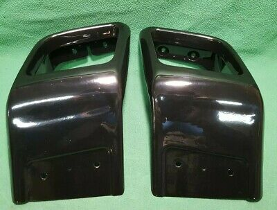 for RANGE ROVER EVOQUE DYNAMIC EXHAUST TAIL PIPES BUMPER TRIMS SURROUNDS BLACK