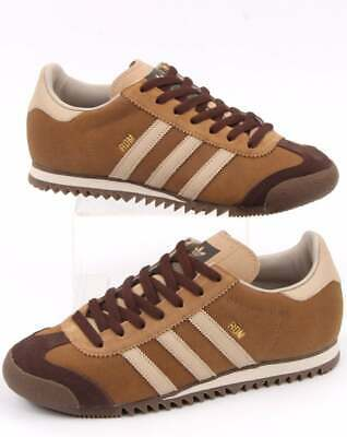 adidas ROM Trainers in Vintage Brown - retro suede, gum sole, 80s 90s shoes