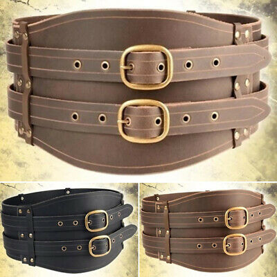 LARP Medieval Viking Leather Wrap Around Knights Belt For Fancy Dress Cosplay UK