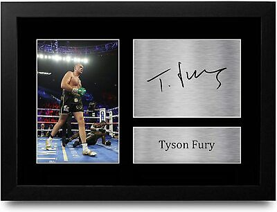 Tyson Fury Signed Pre Printed Autograph Photo Gift For a Boxing Fan