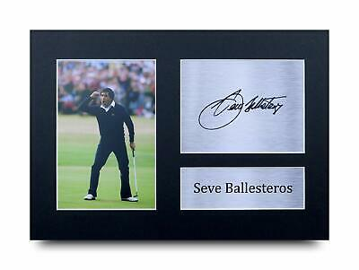 Seve Ballesteros Signed Pre Printed Autograph Photo Gift For a Golf Fan